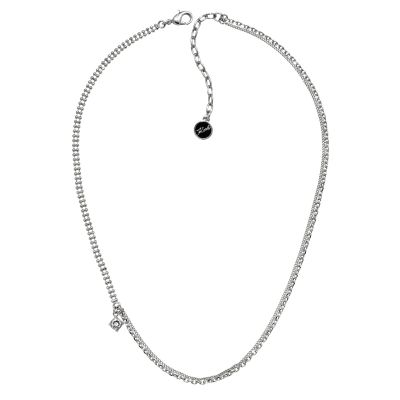 Karl Lagerfeld Dam Mixed Chain Charm Necklace Silverpläterad 5378141