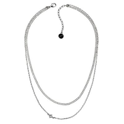 Karl Lagerfeld Dames Layered Mixed Chain Charm Necklace Verguld Zilver 5378143