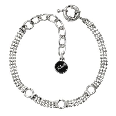 Ladies Karl Lagerfeld Silver Plated Ball Chain Charm Bracelet 5378147