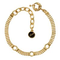 Ladies Karl Lagerfeld Gold Plated Ball Chain Charm Bracelet 5378148