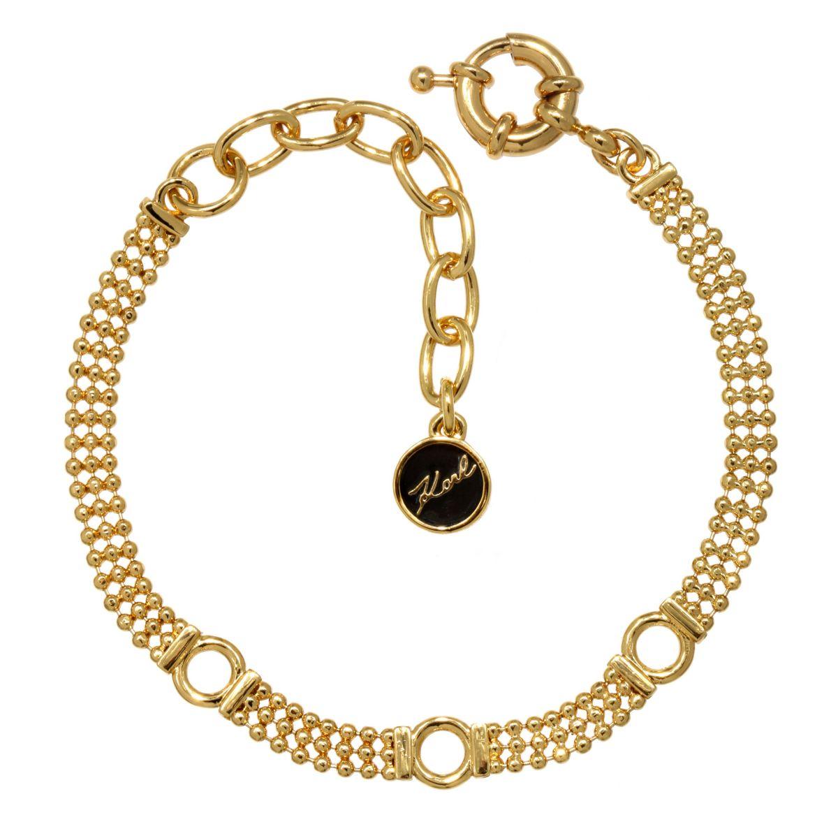 Karl Lagerfeld Gold Plated Charm Bracelet SSdkw0aJ