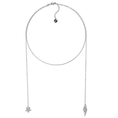 Karl Lagerfeld Dam Hanging Star & Lighning Necklace Silverpläterad 5378157