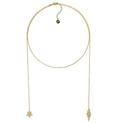 Biżuteria damska Karl Lagerfeld Jewellery Hanging Star & Lighning Necklace 5378158