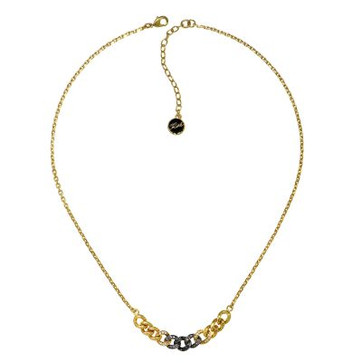 Ladies Karl Lagerfeld Gold Plated Ombre Chain Necklace 5378187