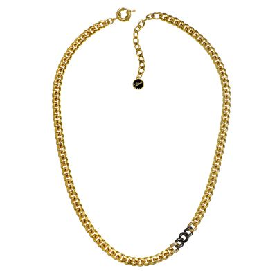 Ladies Karl Lagerfeld Gold Plated Ombre Chain Collar Necklace 5378189
