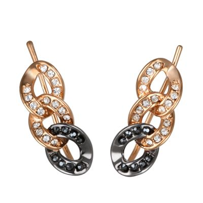 Karl Lagerfeld Dam Ombre Chain Earrings Roséguldspläterad 5378357