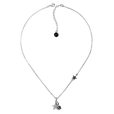 Ladies Karl Lagerfeld Silver Plated Eclectic Stud Necklace 5378224
