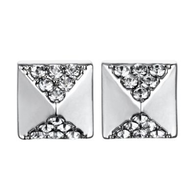 Karl Lagerfeld Dam Pave Pyramid Earrings Silverpläterad 5378311