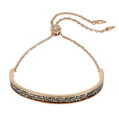 Ladies Adore Rose Gold Plated Ultra Fine Rock Slide Bracelet 5375475