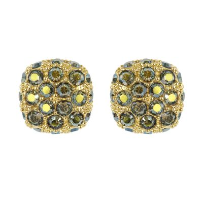 Adore Dames Pave Cushion Earrings Verguld goud 5375593