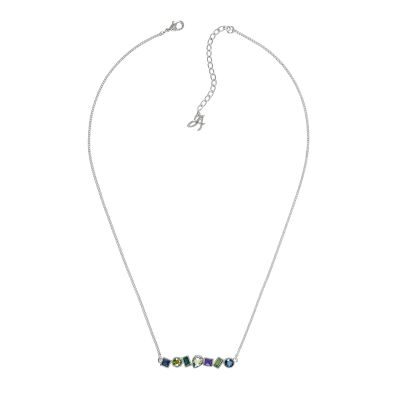 Ladies Adore Silver Plated Mixed Crystal Bar Necklace 5375513