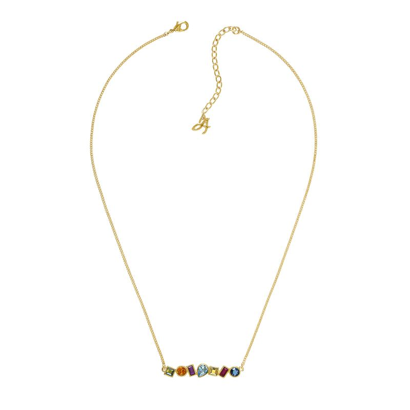 Ladies Adore Gold Plated Mixed Crystal Bar Necklace 5375514