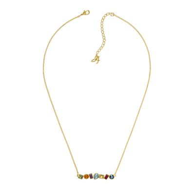 Adore Dames Mixed Crystal Bar Necklace Verguld goud 5375514