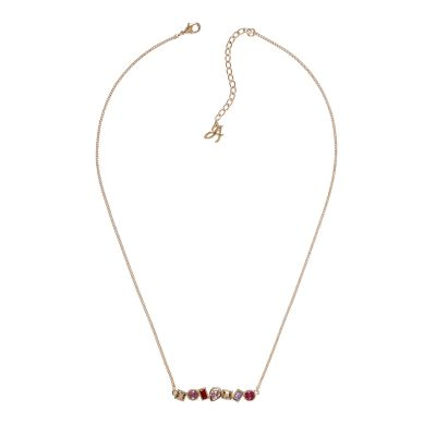 Ladies Adore Rose Gold Plated Mixed Crystal Bar Necklace 5375515