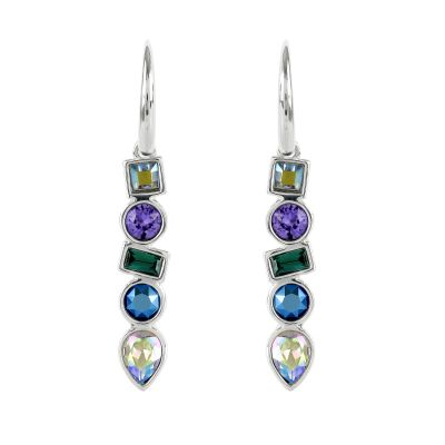 Adore Dames Mixed Crystal Earrings Verguld Zilver 5375525