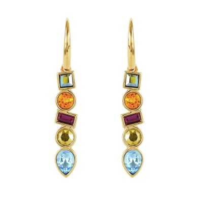 Ladies Adore Gold Plated Mixed Crystal Earrings 5375526