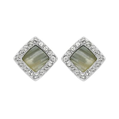 Adore Dam Resin & Pave Post Earrings Silverpläterad 5375572