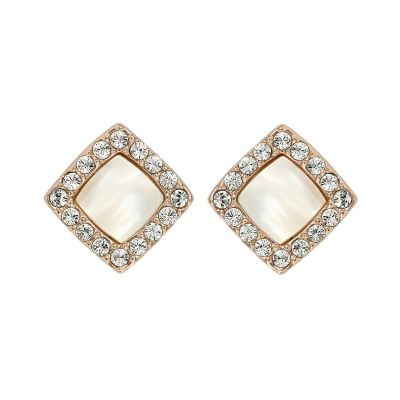 Adore Dames Resin & Pave Post Earrings Verguld Rose Goud 5375574