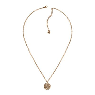 Adore Dam Small Metallic Pave Disc Necklace Roséguldspläterad 5375479
