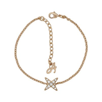 Ladies Adore Rose Gold Plated 4 Point Star Bracelet 5303131