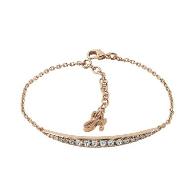 Ladies Adore Rose Gold Plated Curved Bar Bracelet 5303132