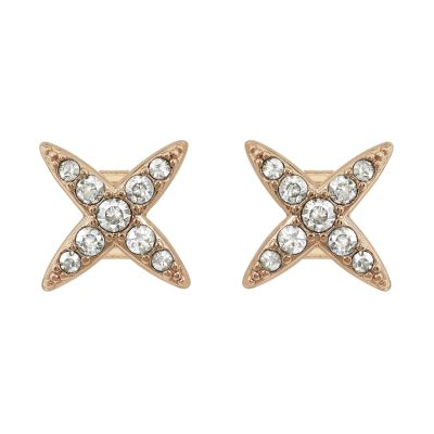 Ladies Adore Gold Plated 4 Point Star Earrings 5303133