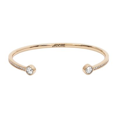 Adore Dames Skinny Pave Stone Bangle Verguld Rose Goud 5260434