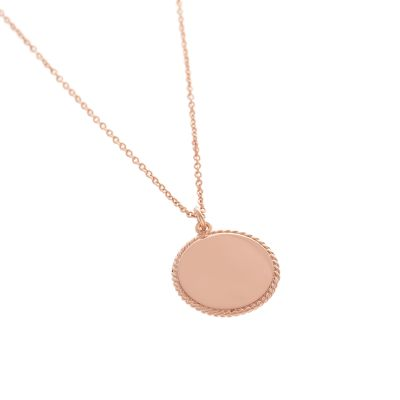 Biżuteria damska Olivia Burton Jewellery Engraveable Disc Necklace OBJ16ENN11