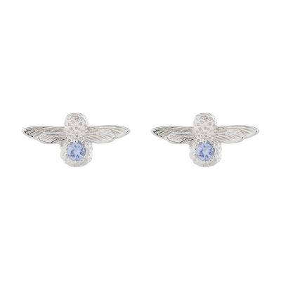 Biżuteria damska Olivia Burton Jewellery Tanzanite Bejewelled Bee Stud Earrings OBJ16AME28