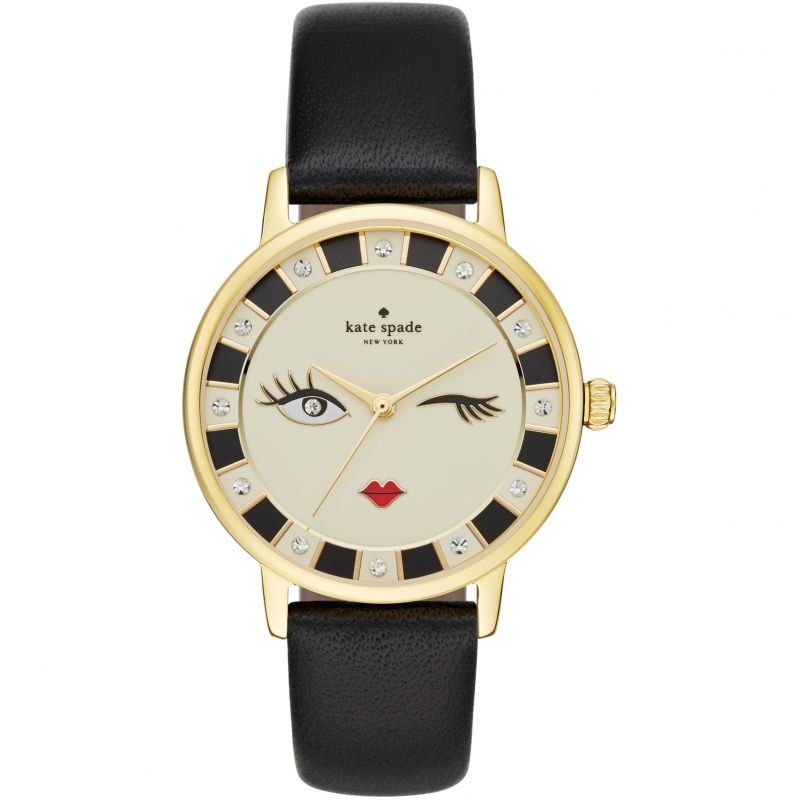 Ladies Kate Spade New York Metro Black Wink Watch