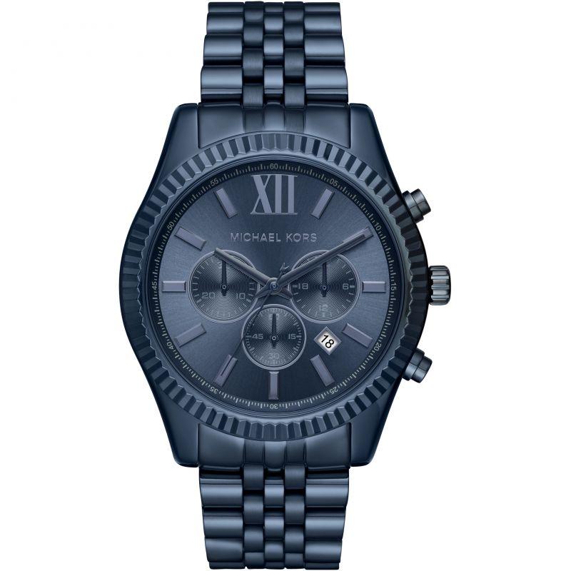 michael kors men's lexington blue watch mk8480