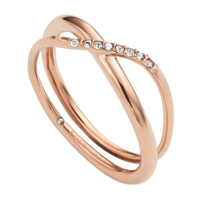 Fossil Dames RING Verguld Rose Goud JF02255791508