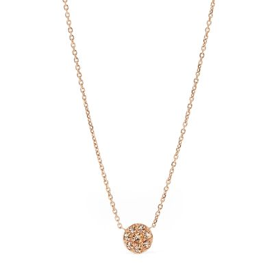 Fossil Dames Vintage Glitz Necklace Verguld Rose Goud JF00846791