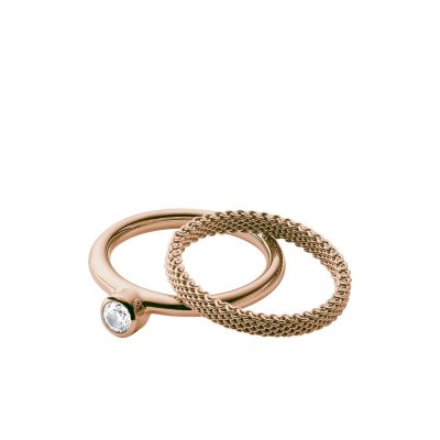 Ladies Skagen Rose Gold Plated Size P Elin Ring SKJ0852791508