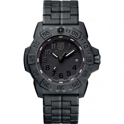 Mens Luminox 3500 Series Navy Seal Blackout Watch A3502.BO