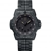 Mens Luminox 3500 Series Navy Seal Blackout Watch