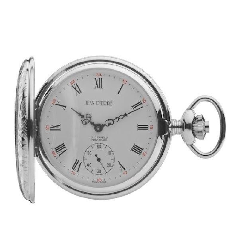 Jean Pierre Half Hunter Pocket Mechanical Watch