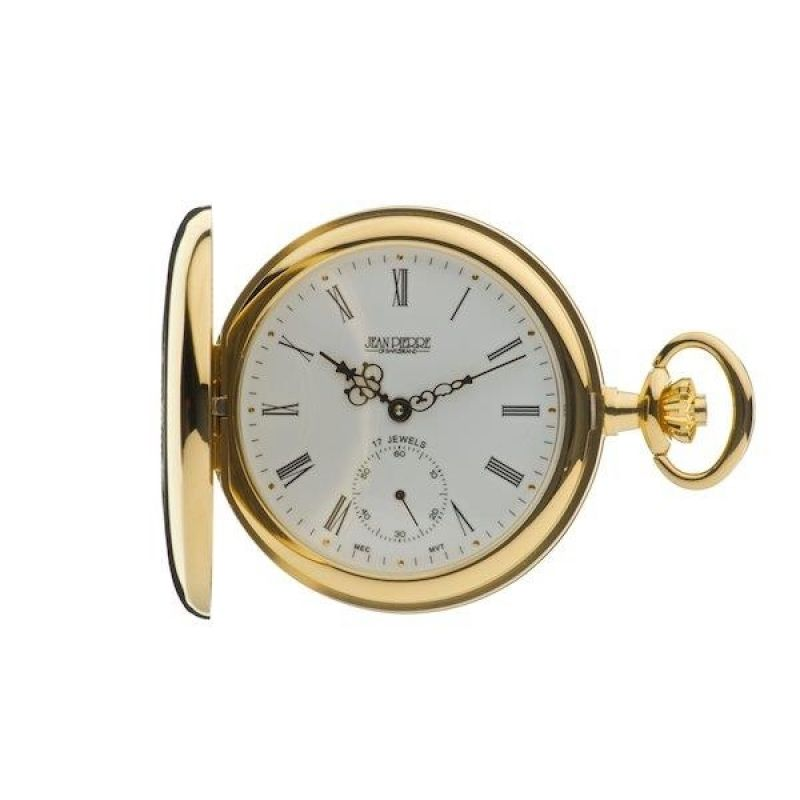 Jean Pierre Half Hunter Pocket Mechanical Watch JP-G103PM