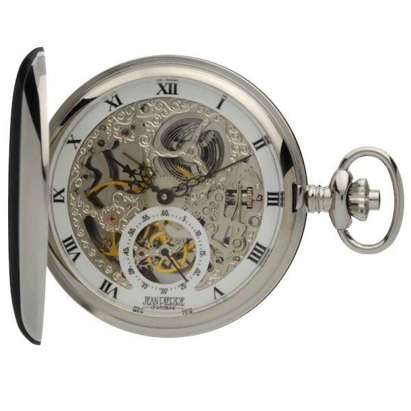 Jean Pierre Double Hunter Pocket Mechanical Watch