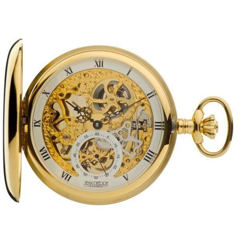 Jean Pierre Double Hunter Pocket Mechanical Watch JP-G250PM