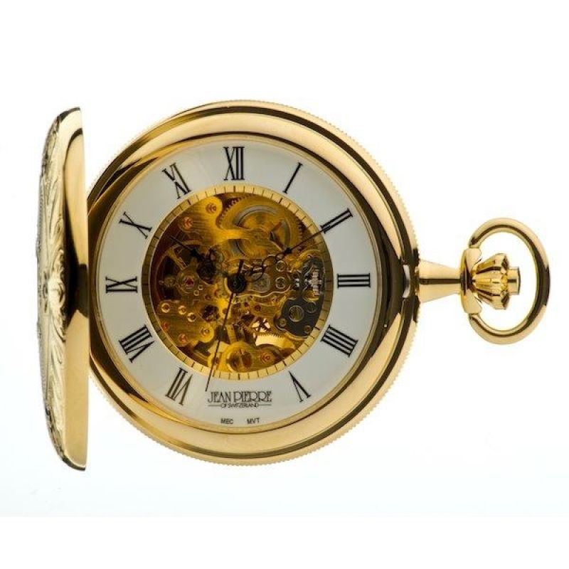 Jean Pierre Double Hunter Pocket Mechanical Watch JP-G251PM