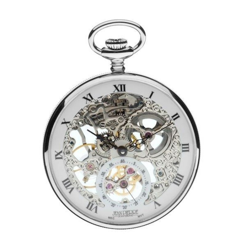 Jean Pierre Open Face Pocket Mechanical Watch