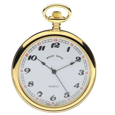 Mount Royal Open Face Quartz Pocket Watch MR-B1