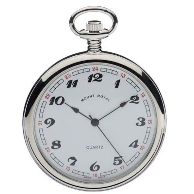 Mount Royal Open Face Quartz Pocket Watch MR-B2