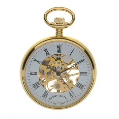 Mount Royal Open Face Pocket Mechanical Watch MR-B3P/RN