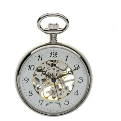 Mount Royal Open Face Pocket Mechanical Watch MR-B3C/AF