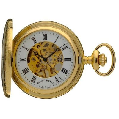 Mount Royal Half Hunter Pocket Mechanical Watch MR-B6