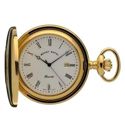 Mount Royal Half Hunter Quartz Pocket Watch MR-B8