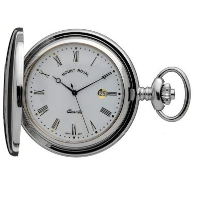 Mount Royal Half Hunter Quartz Pocket Watch MR-B9