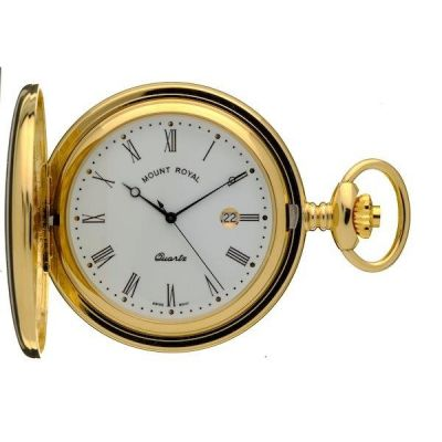 Mount Royal Full Hunter Quartz Pocket Watch MR-B23
